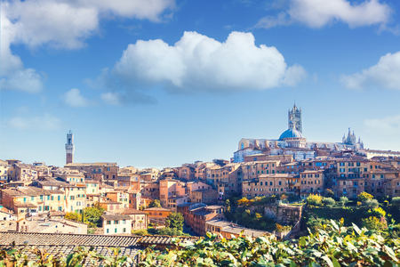 Scenic view of Siena, Italy Stock Photo