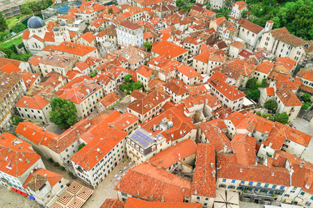 Top view of the old european city
