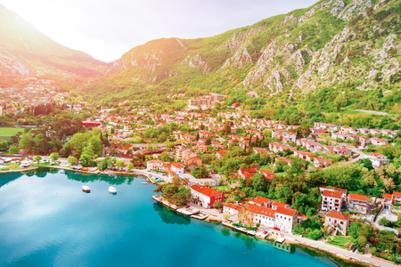 Panoramic view of the beautiful city near the sea Stock Photo