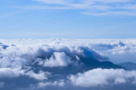 Clouds over the mountains. photo
