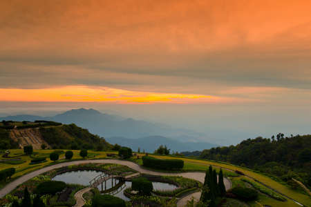 doi: Doi inthanon National Park, Vantage point to view both sunrise and sunset.
