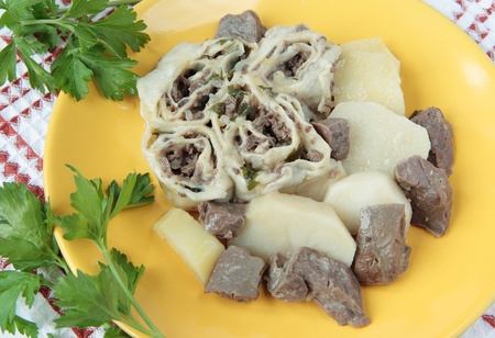 moldovan: Strudel with beef  lungs and potatoes in Moldovan