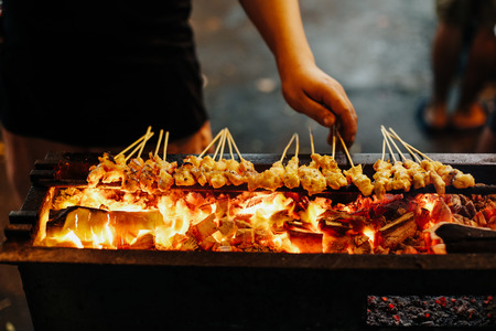 Satay, Malaysian Street food Stock Photo