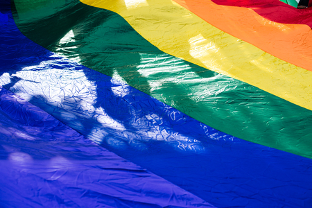 Rainblow Flag, Metro Manila Pride Stock Photo - 78985339