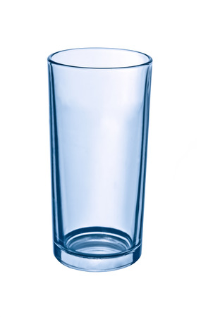Close-up Photo of Empty Glass on white background Stock Photo - 54291339