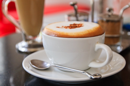 Cup of Coffee Cappuccino or latte photo
