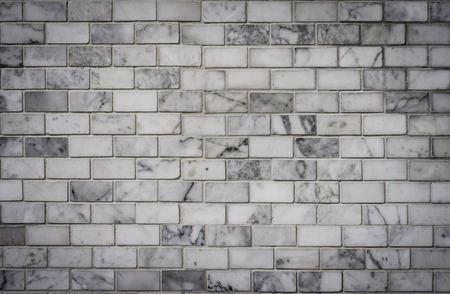 White bricks wall, marble texture photo