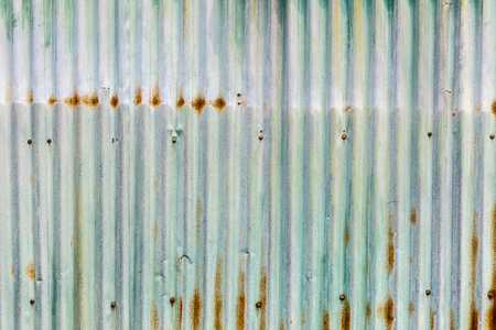 rusts: Green old rusty zinc wall for textured background, Tin roof abstract rusty