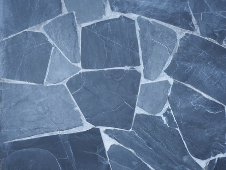 blue background: Blue stone wall background