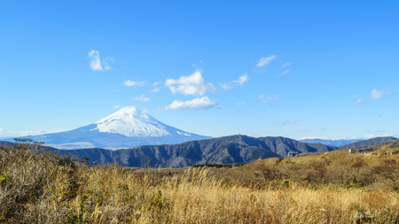 mountain peek: Mount Fuji landscape