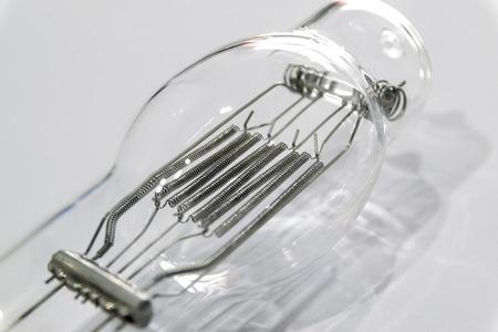 emitting: Incandescent lamp emitting light as a result of being heated