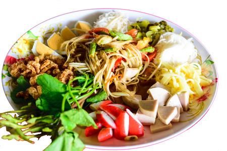 tam: Tam papaya Thailands famous spicy food.