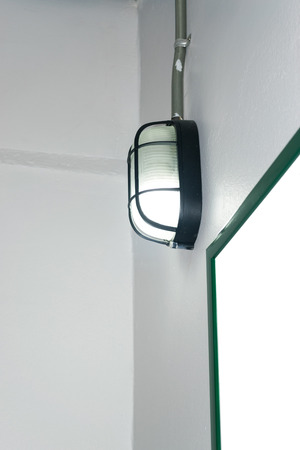 wall lamp: Black wall lamp for home and office. Stock Photo