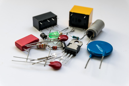 electronics equipment: Electronic Devices and accessorie for repair electronics equipment. Stock Photo
