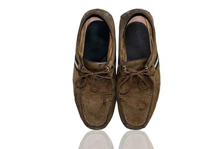 foe: Old Brown leather shoes foe men.