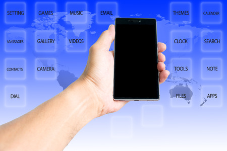 human beings: Smart phones are necessary in the daily life of human beings. Stock Photo