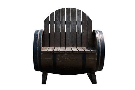 wooden chair: Old wooden chair Made from old wine barrels.