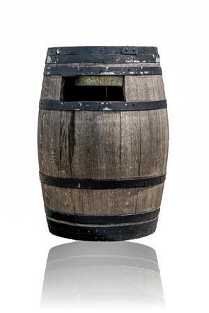 ferment: Old wine barrels on the park.
