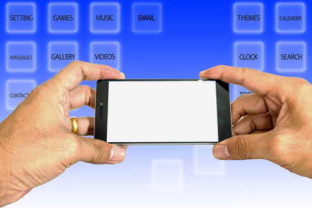beings: Smart phones are necessary in the daily life of human beings. Stock Photo