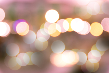 defocussed: Blurred bokeh lights background on the road.