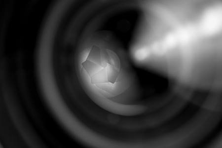 and aperture: Diaphragm of a camera lens aperture. Stock Photo