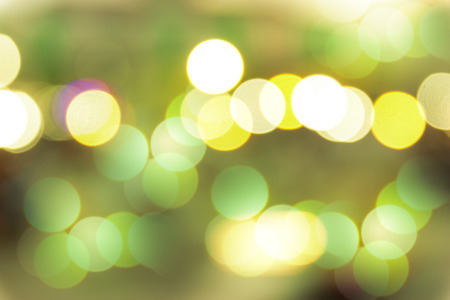 defocussed: Blured bokeh lights background on the road.