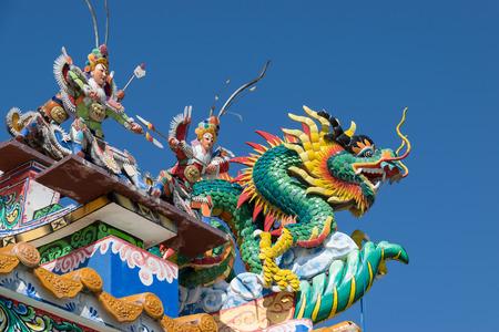 symbolic: Beautiful dragon statue in the temple.