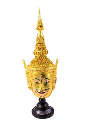 actors: Thailand actors mask isolated on white background. Stock Photo
