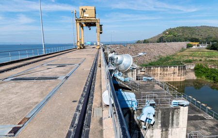 catchment: Dams store water for agriculture.