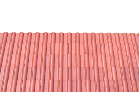 tin: Red tin roof texture background.