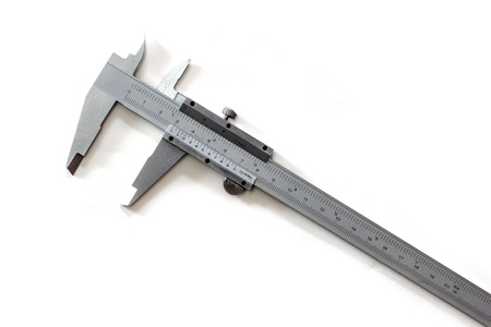 centimeters: Vernier is a measure of the jobs and the industry is measured in centimeters and inches. Stock Photo