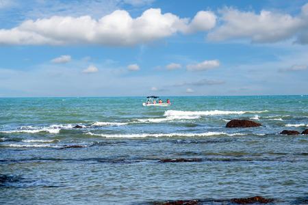 ocean waves: Ocean waves that lapped toward shore.