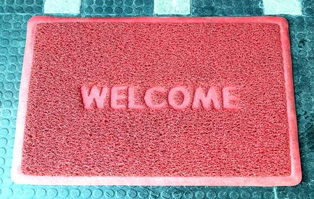 welcome door: Welcome door capet isolated on white background.