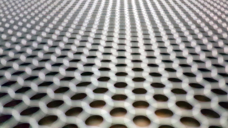 aluminium texture: Blurred of aluminium wire mesh material texture background.
