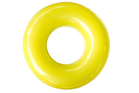 inner tube: The swim ring was derived from the inner tube, the inner, enclosed, inflatable part of older vehicle tires.