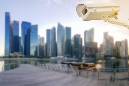 close circuit camera: Closeup of the CCTV in the big city.
