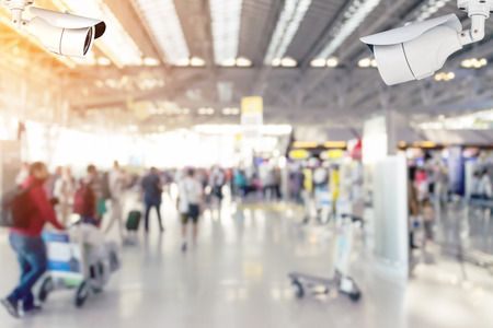 closed circuit television: Security cameras (CCTV) or surveillance camera inside the airport terminal to the various internal security.
