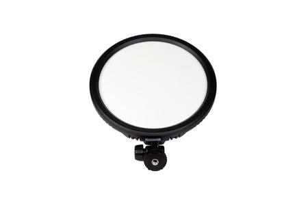 cinematography: LED lighting for cinematography and photography isolated on white background.