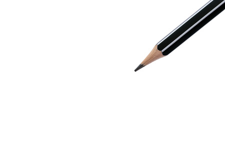 sharp pencil: Closeup of a sharp pencil isolated on white background.