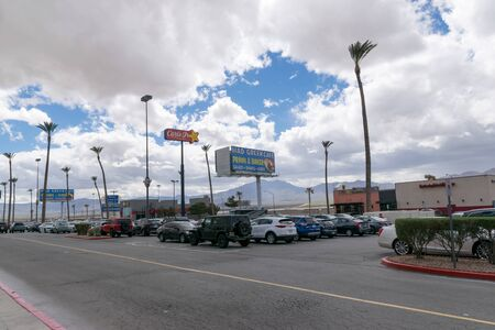 Las Vegas, NevadaUnited states Of America-April 8, 2018: Mid-way car park on the 15th street between Los Angeles and Las Vegas.