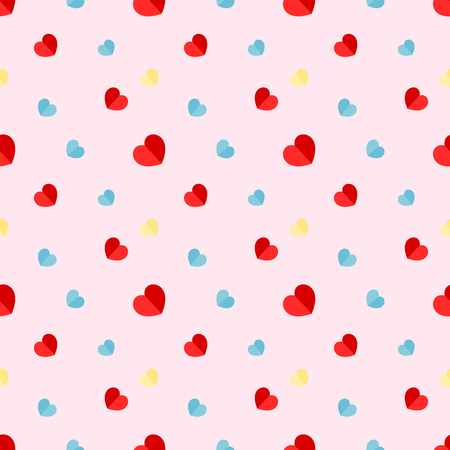 Vector illustration graphic design group of heart seamless pattern background concept for valentines day.
