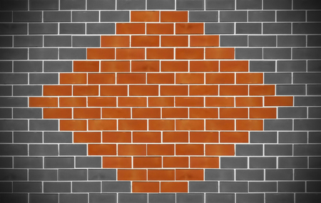 Beautiful design textured of old bricks wall background.