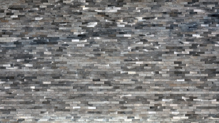Beautiful design textured of old black bricks wall background.