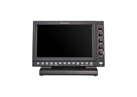 Digital monitors for the movie film industry Television and broadcasting isolated on white background.