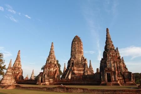 ayuthaya: Wat Chai Wattanaram temple, Ayuthaya, Thailand  Stock Photo