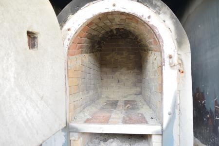 Empty brick oven   Stock Photo