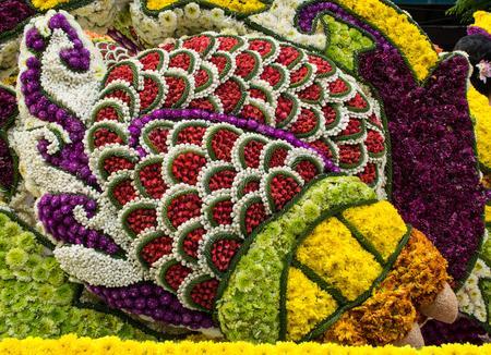 festival scales: CHIANGMAI THAILAND FEBUARY 6:Chiangmai Flower festival 2016 to showcase its beautiful flowers and decorative plants on Febuary 6,2016 Chiangmai Thailand.