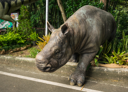 CHIANGMAI THAILAND SEPTEMBER 23 :Exhibition Thai of Dinosaur model in Geological adventure tour Festival between 20 - 24 September 2017 at Chiang mai zoo on September 23,2017. Editorial