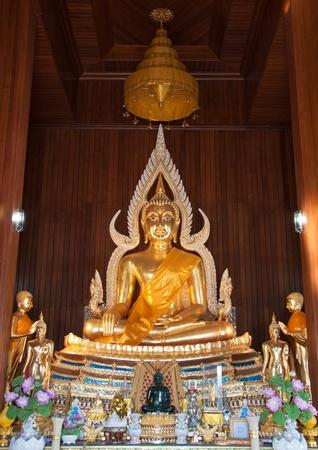 mara: Buddha Image of Subduring MaRa in the ordination hall