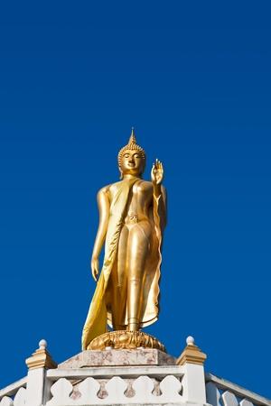 Buddha image in Walking attitude, Thailand Stock Photo - 11932359